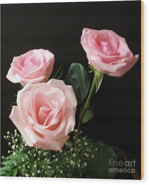 Pink Elegance Wood Print