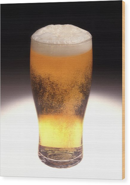 Pint Of Beer Wood Print