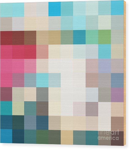 Pixel Art 3 Wood Print