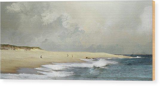 Plum Island Sky Wood Print