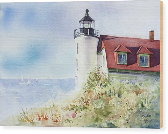 Point Betsie Wood Print by Bobbi Price