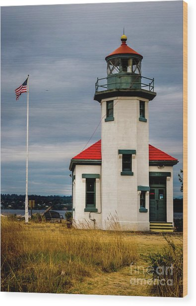 Point Robinson  Lighthouse,vashon Island.wa Wood Print