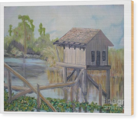 Pole House Wood Print by Hal Newhouser