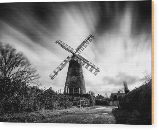 Polegate Windmill Wood Print