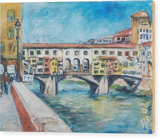 Pontevecchio Wood Print by Joan De Bot
