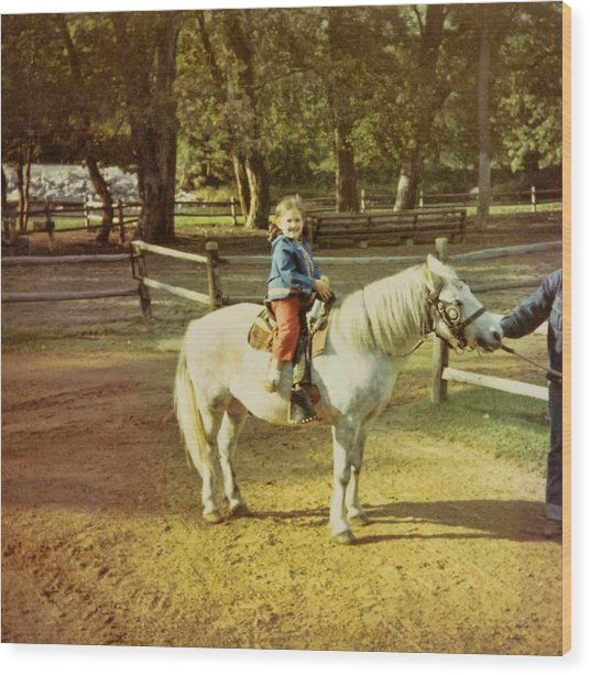 Pony Ride Wood Print by JAMART Photography