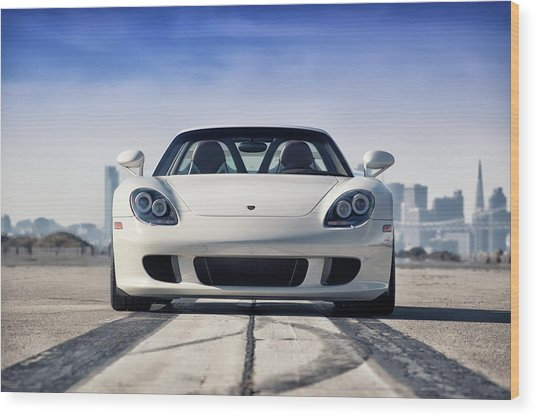 Wood Print featuring the photograph #porsche #carreragt by ItzKirb Photography