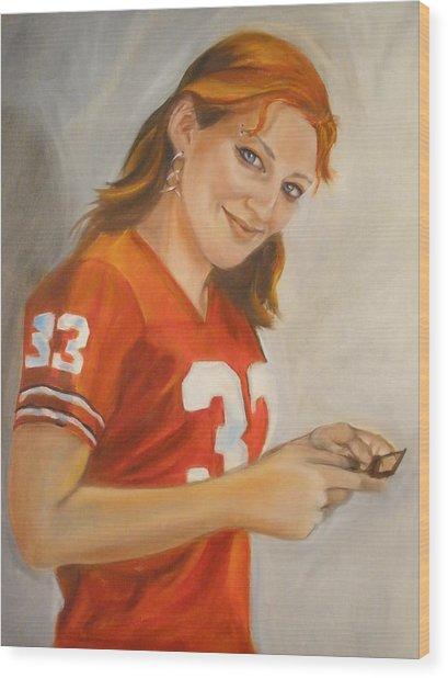 Portrait Of Ellie Wood Print by Kaytee Esser