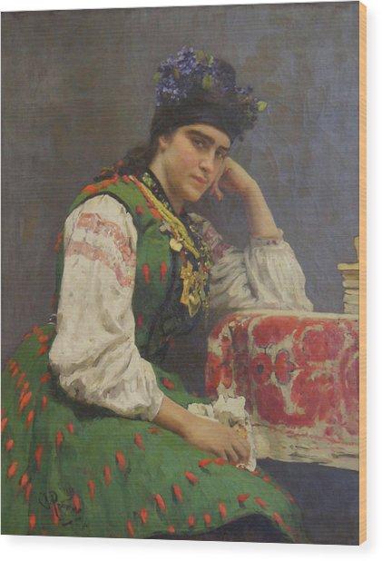 Portrait Of Sophia Dragomirova Wood Print by Ilya Repin