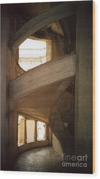 Portuguese Staircase Wood Print by Andrea Simon