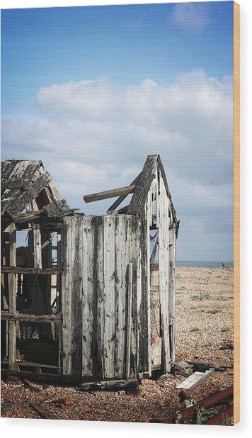 Projekt Desolate Alone Wood Print by Stuart Ellesmere