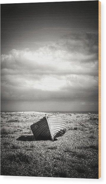Projekt Desolate Go West Wood Print by Stuart Ellesmere