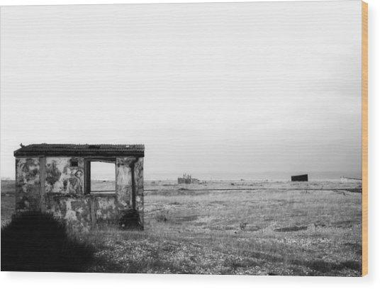 Projekt Desolate Loveshack  Wood Print by Stuart Ellesmere
