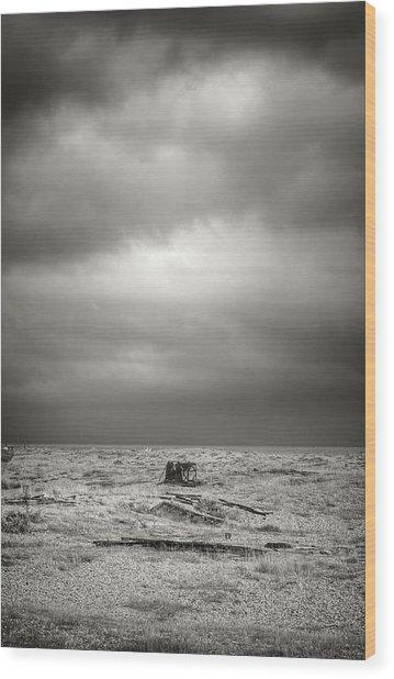 Projekt Desolate Workspace  Wood Print by Stuart Ellesmere
