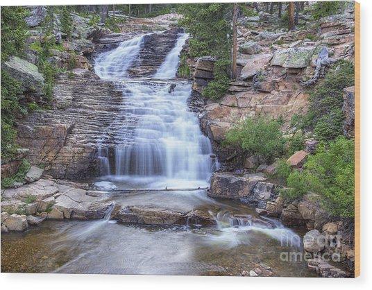 Provo River Falls Wood Print
