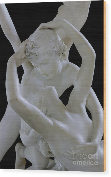 Psyche Revived By The Kiss Of Cupid Wood Print