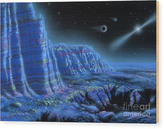 Pulsar Planets II Wood Print