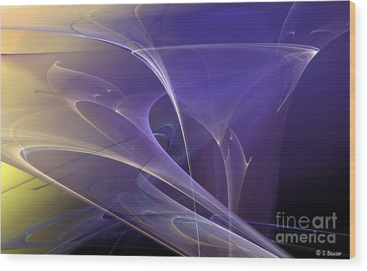 Purple Haze Wood Print by Sandra Bauser Digital Art