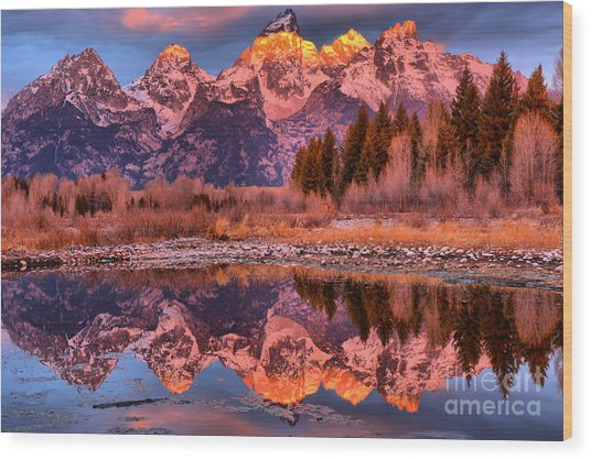 Wood Print featuring the photograph Purple Mountain Majesty by Adam Jewell