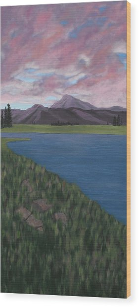 Purple Mountains Wood Print by Candace Shockley