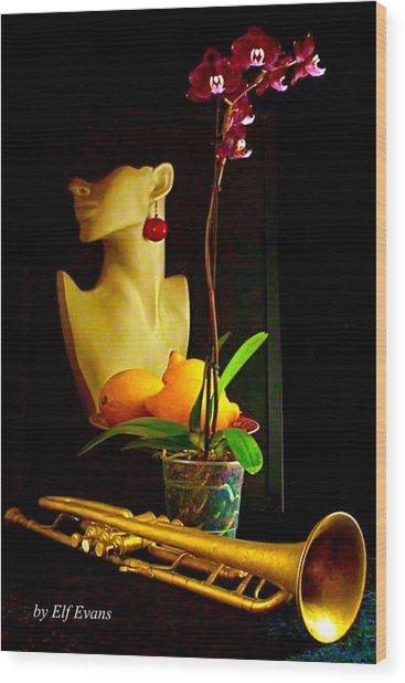 Purple Orchid  Wood Print