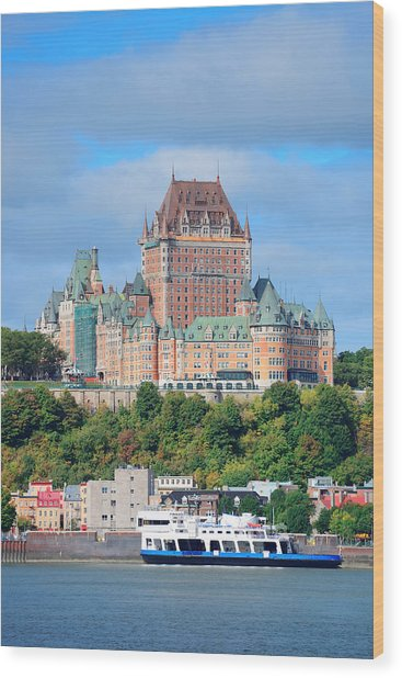 Quebec City Skyline Wood Print