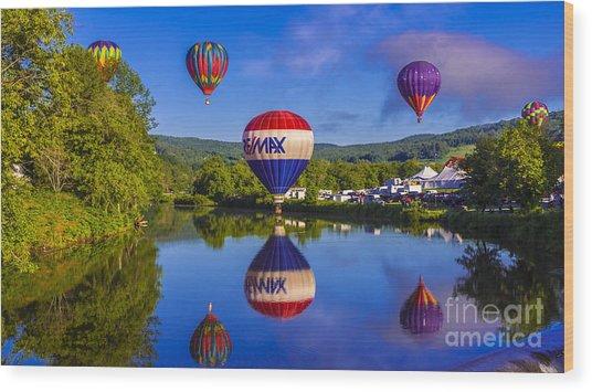 Quechee Balloon Festival. Wood Print