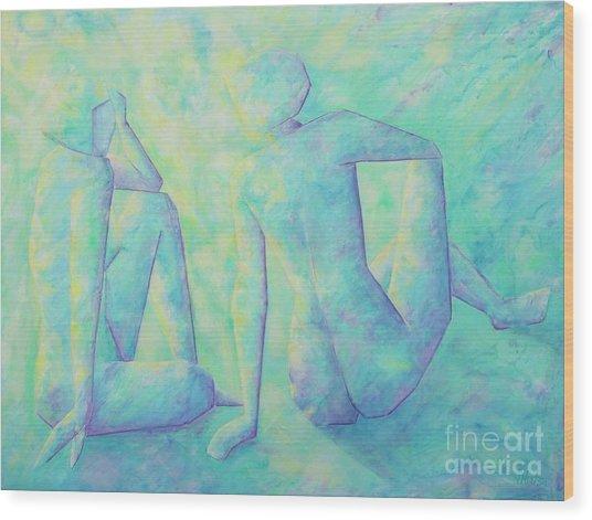 Quiet Conversation II Wood Print