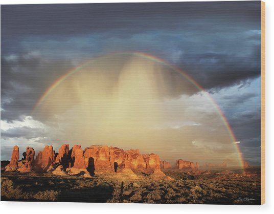 Rainbow Over Garden Of Eden Wood Print
