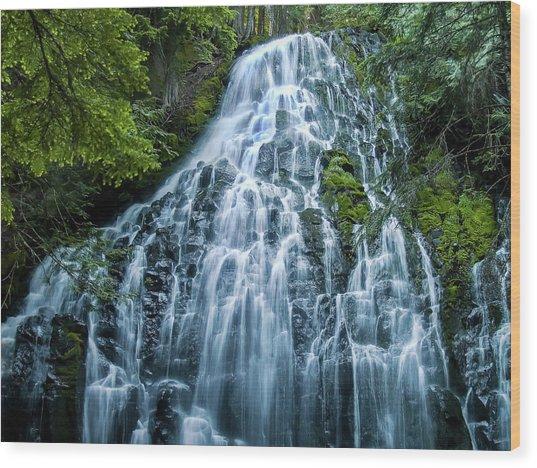 Ramona Falls Cascade Wood Print