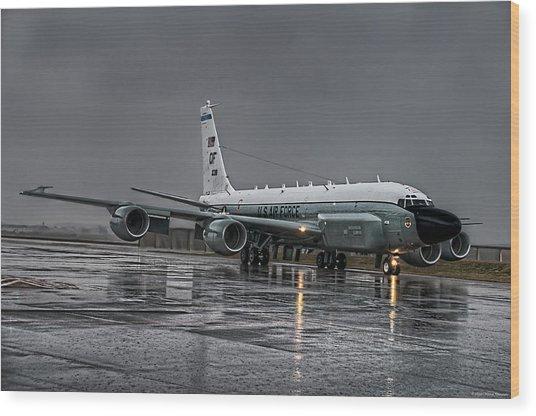 Rc-135 Rivet Joint Wood Print
