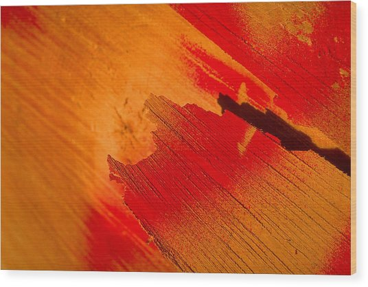 Red Alert Wood Print