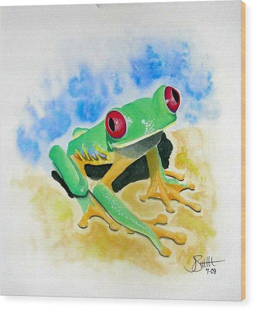 Red Eyed Tree Frog Wood Print