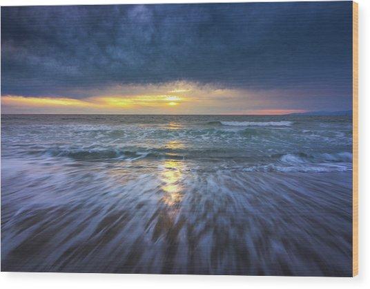 Redondo Beach Sunset Wood Print