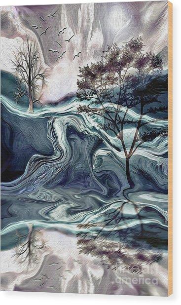 Reflections Of Nirvana Wood Print