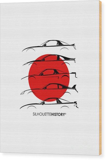 Rice Bomber Silhouettehistory Wood Print