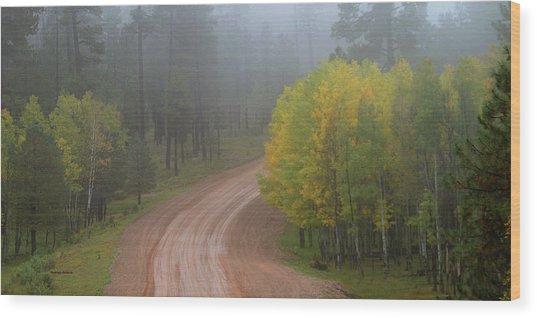 Rim Road Wood Print