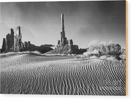 Rippled Dunes Wood Print