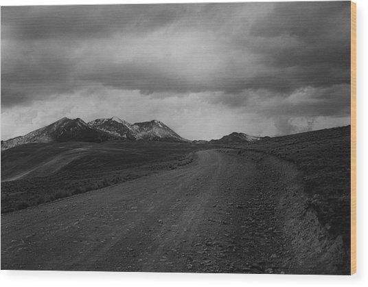 Road To Chacaltaya Wood Print