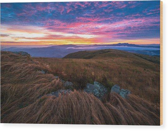 Roan Mountain Sunrise Wood Print