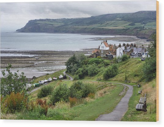 Robin Hood's Bay Wood Print