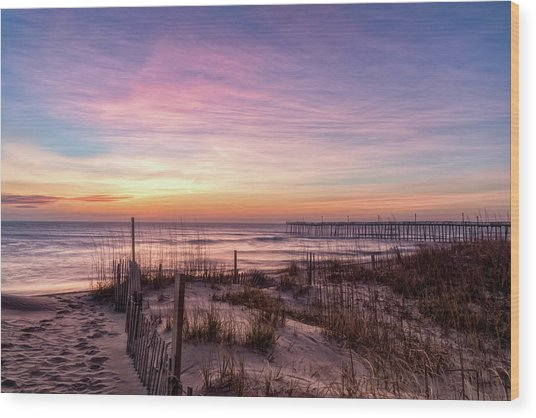 Rodanthe Sunrise Wood Print