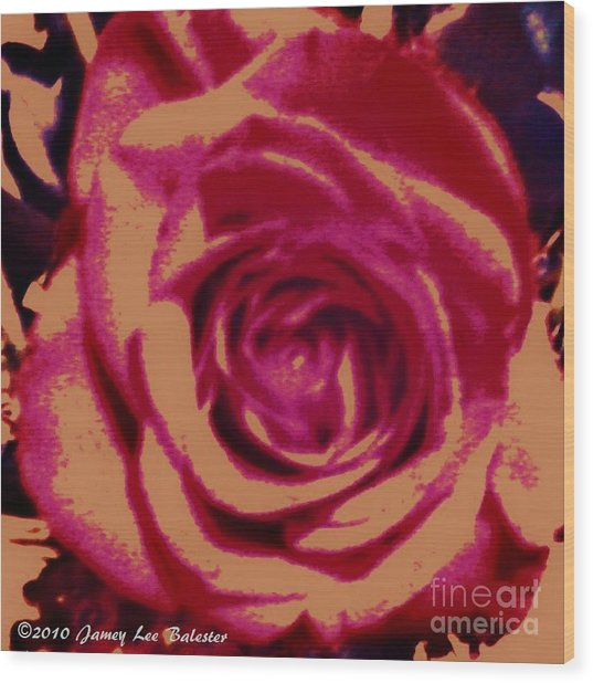 Rose Wood Print by Jamey Balester