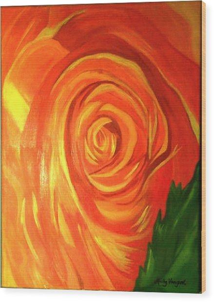 Rose Wood Print by Misty VanPool