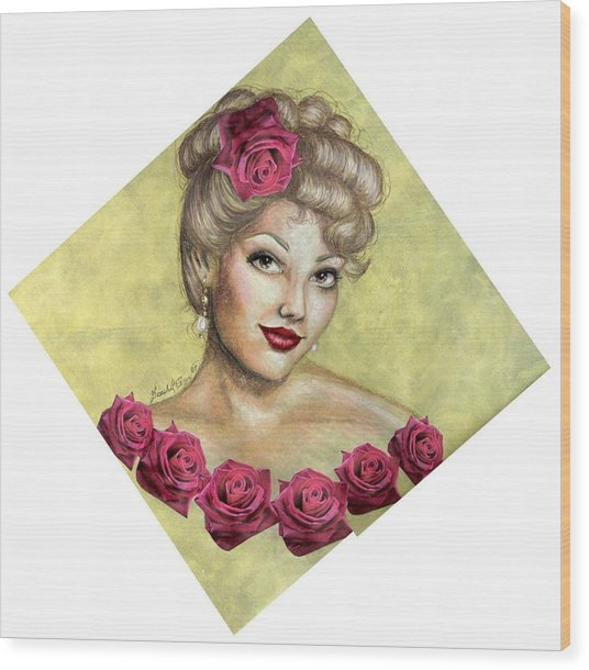 Rose Wood Print by Scarlett Royal
