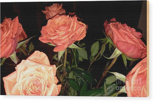 Roses For Holiday Wood Print