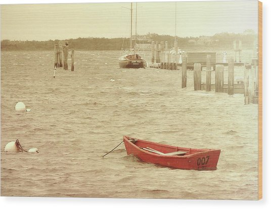 Rough Seas Wood Print by JAMART Photography