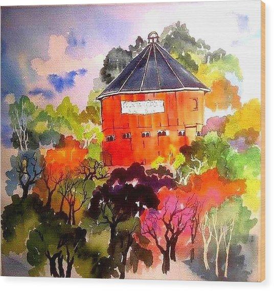 Round Barn ,santa Rosa Wood Print