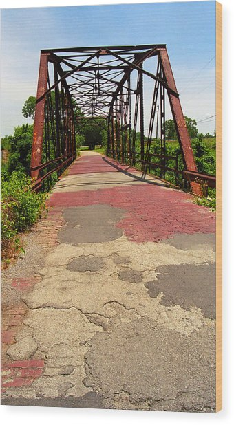 Route 66 - One Lane Bridge Wood Print