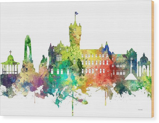 Rutherglen Scotland Skyline Wood Print
